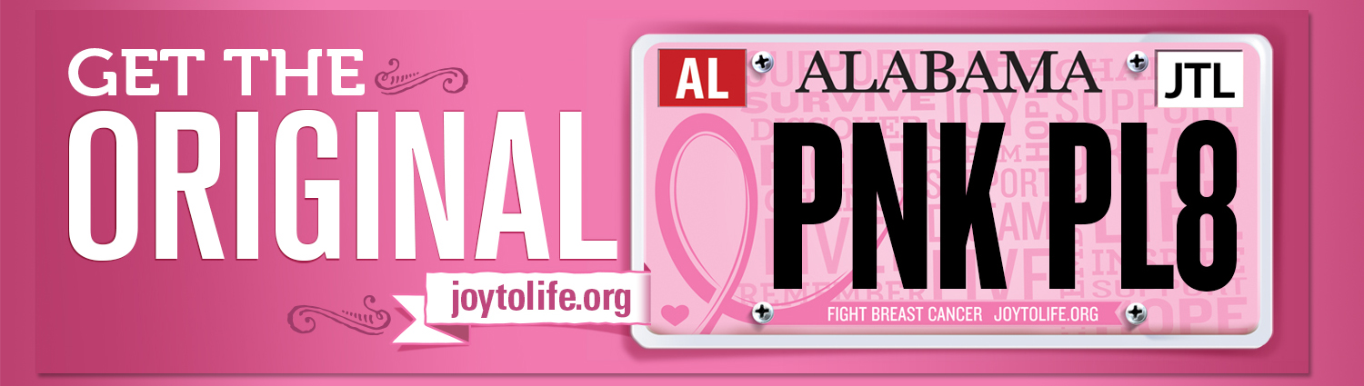 Pink Fight Breast Cancer Car Tag